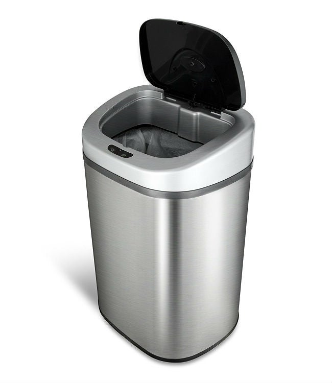 White Kitchen Trash Can 13 Gallon