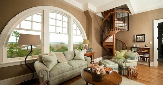 Staircase Railing 14 Ideas To Elevate Your Home Design Bob Vila   Round Staircase Designs Interior   Classic   Wooden   Elegant   Showroom   Round Shape Round