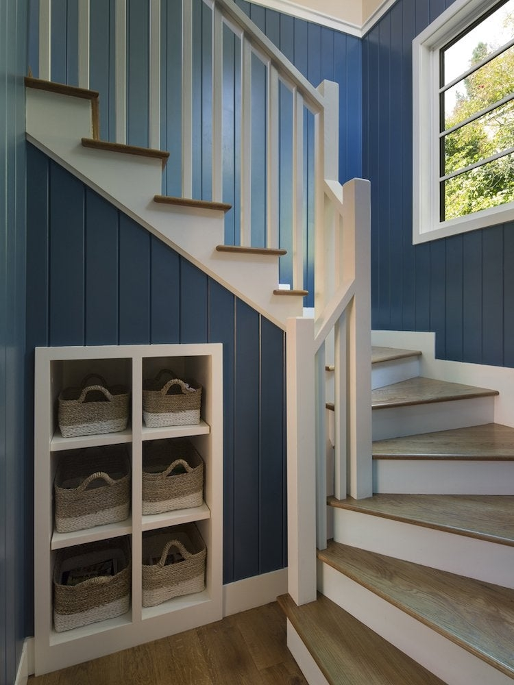 Under Stair Storage 17 Clever Ideas Bob Vila | Best Stair Design For Small House | Under Stairs | Handrail | Space Saving Staircase | Spiral Stair | Stair Case