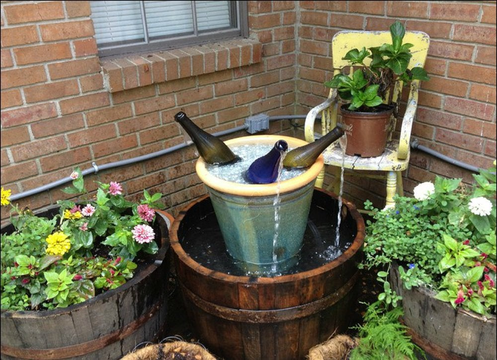 Plastic Whiskey Barrel Planter