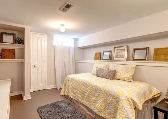 Basement Bedrooms 14 Tips For A Cozy Space Bob Vila   Basement With Stairs In Middle   Upper Level Basement   Family Room   Hidden Basement   Underground Washroom   Middle Hallway