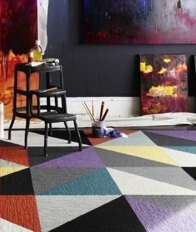 Cheap Flooring Ideas 15 Totally Unexpected Diy Options Bob Vila | Carpet Squares For Steps | Kajaria Staircase | Stair Runner | Dean Wrap Around Treads | Communal Stairway | Flower Design