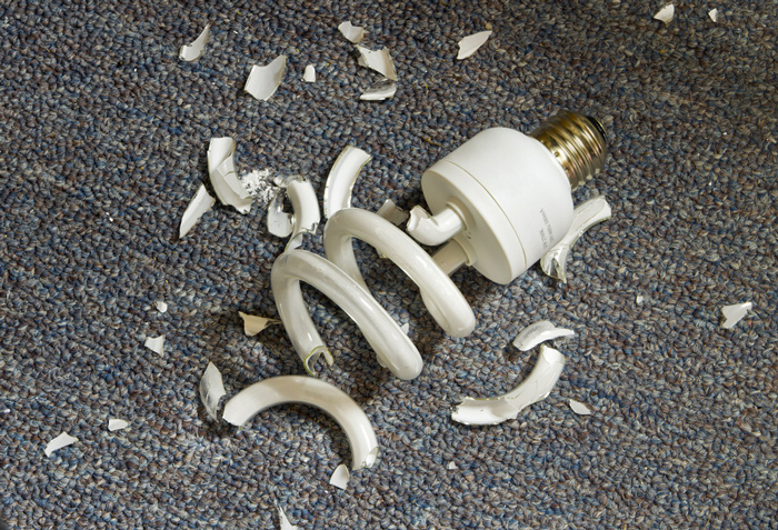 Broken Mercury Light Bulb