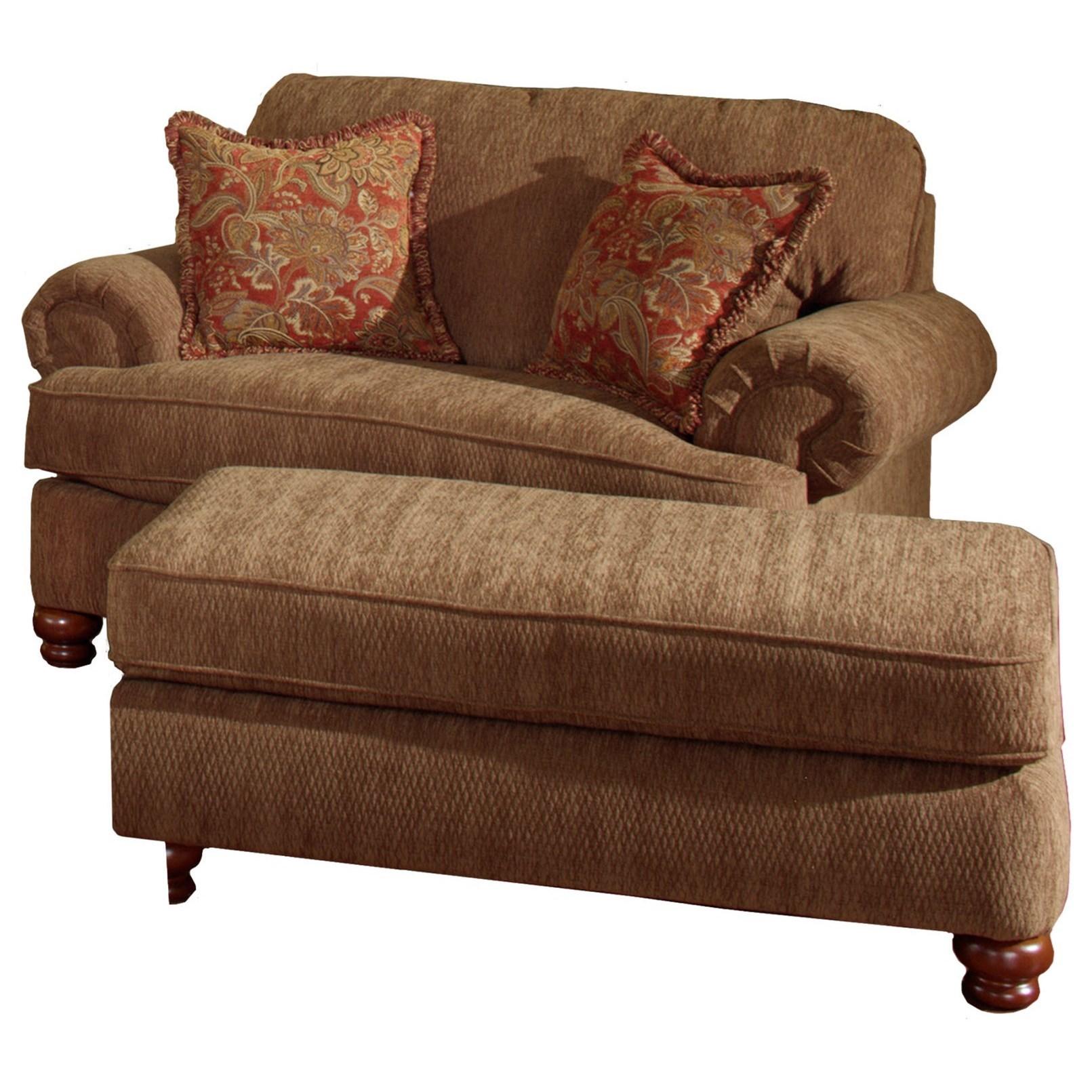 Chair And Half Ottoman