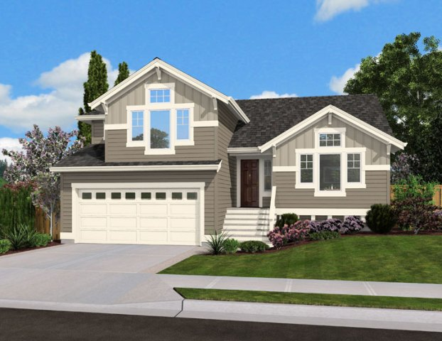 Split Level Home Plan for Narrow Lot   23444JD   Architectural     Split Level Home Plan for Narrow Lot   23444JD   Architectural Designs   House  Plans