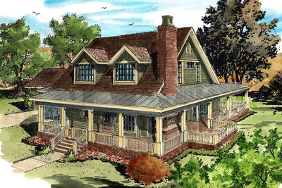 Classic Country Farmhouse House Plan   12954KN   Architectural     Classic Country Farmhouse House Plan   12954KN thumb   01