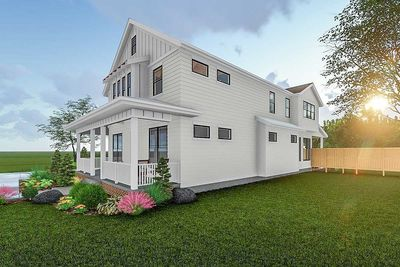 2 Story Modern Farmhouse Plan With Front Porch and Rear Covered     2 Story Modern Farmhouse Plan With Front Porch and Rear Covered Patio    62715DJ thumb