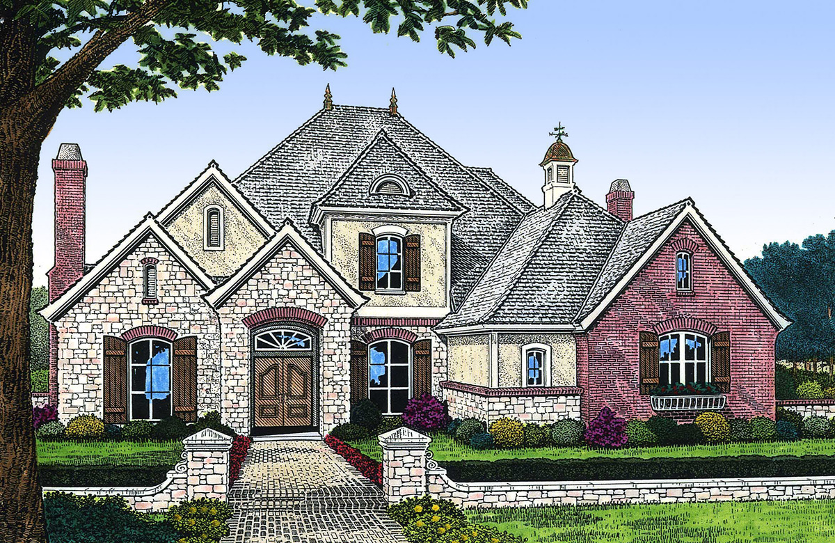 Sumptuous French Country House Plan - 48251FM ...