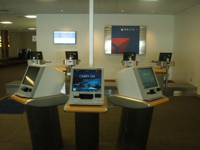 Delta arrives in Juneau tonight The new Delta check in counters at Juneau International Airport  Flights  start May 29