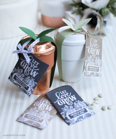 Seed Packet Wedding Favors   Lia Griffith Seed packets are such a charming wedding favor  especially for rustic  themed weddings  Weddings symbolize new beginnings and shared growth  between two