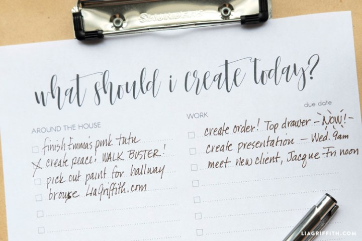 Printable To Do List Template   Lia Griffith To Do List Template