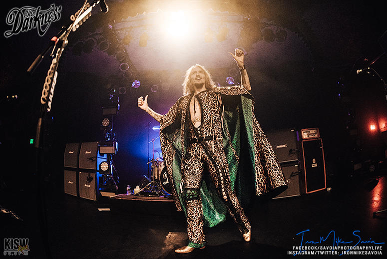Concert Blog  The UKs The Darkness Show Seattle Rock Is Still Alive         Iggy Pop  Steven Tyler and Bon Scott and made it his own in a tongue  and cheek U K  way with his interesting falsetto vocals  Read more  KISW