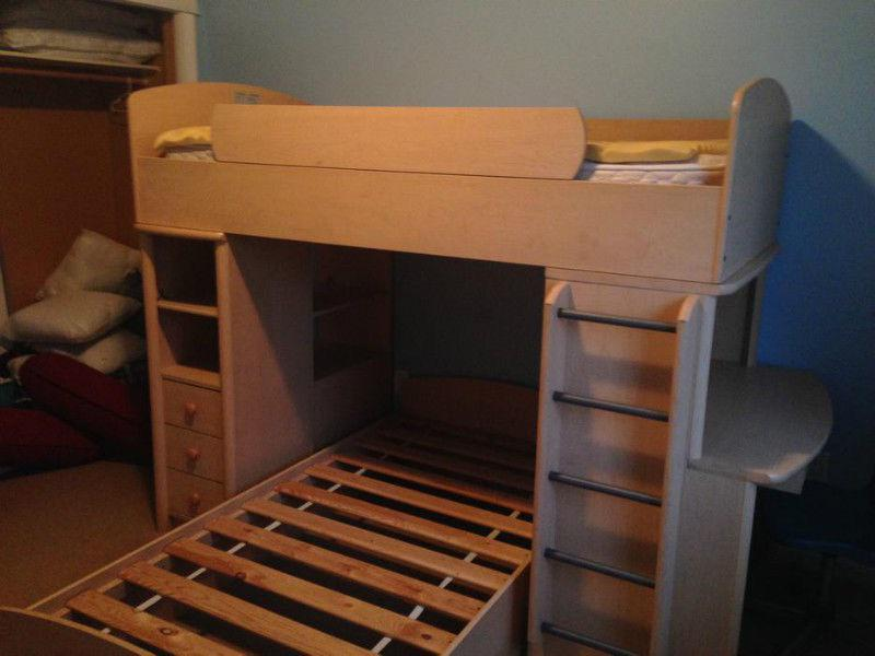 Palliser Bunk Bed With Side Desk And Bookcase West