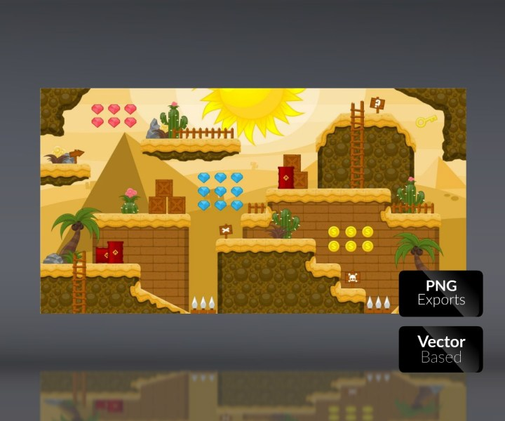 Desert Lands   Platform Tileset   Royalty Free Game Art Assets Royalty free game art  Royalty free game art