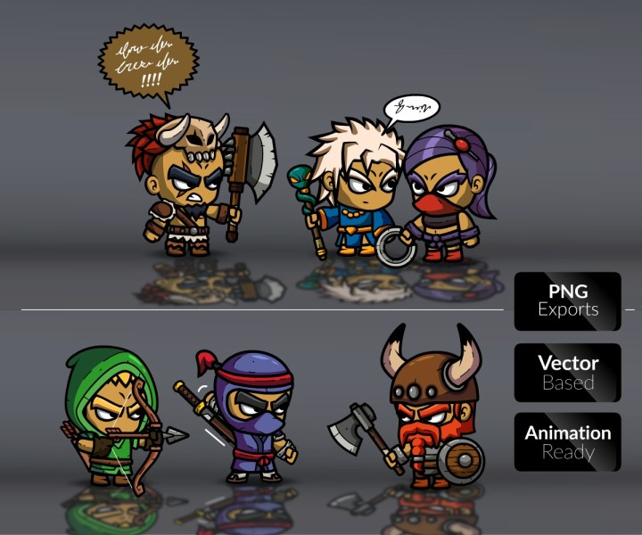 Royalty Free 2D Game Art   Role Playing Games Character Bundle 1 Royalty free game art  Royalty free game art