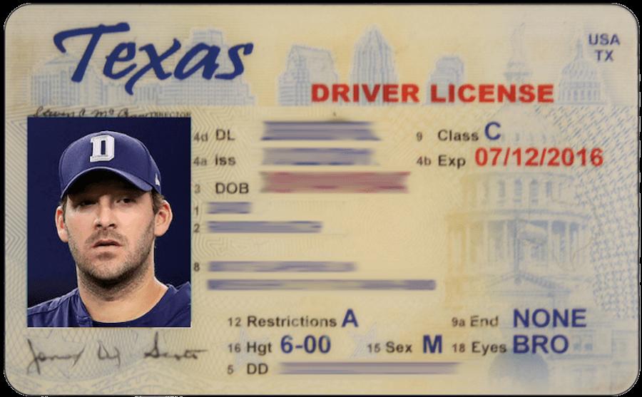 Texas Temporary Drivers License Template Editable