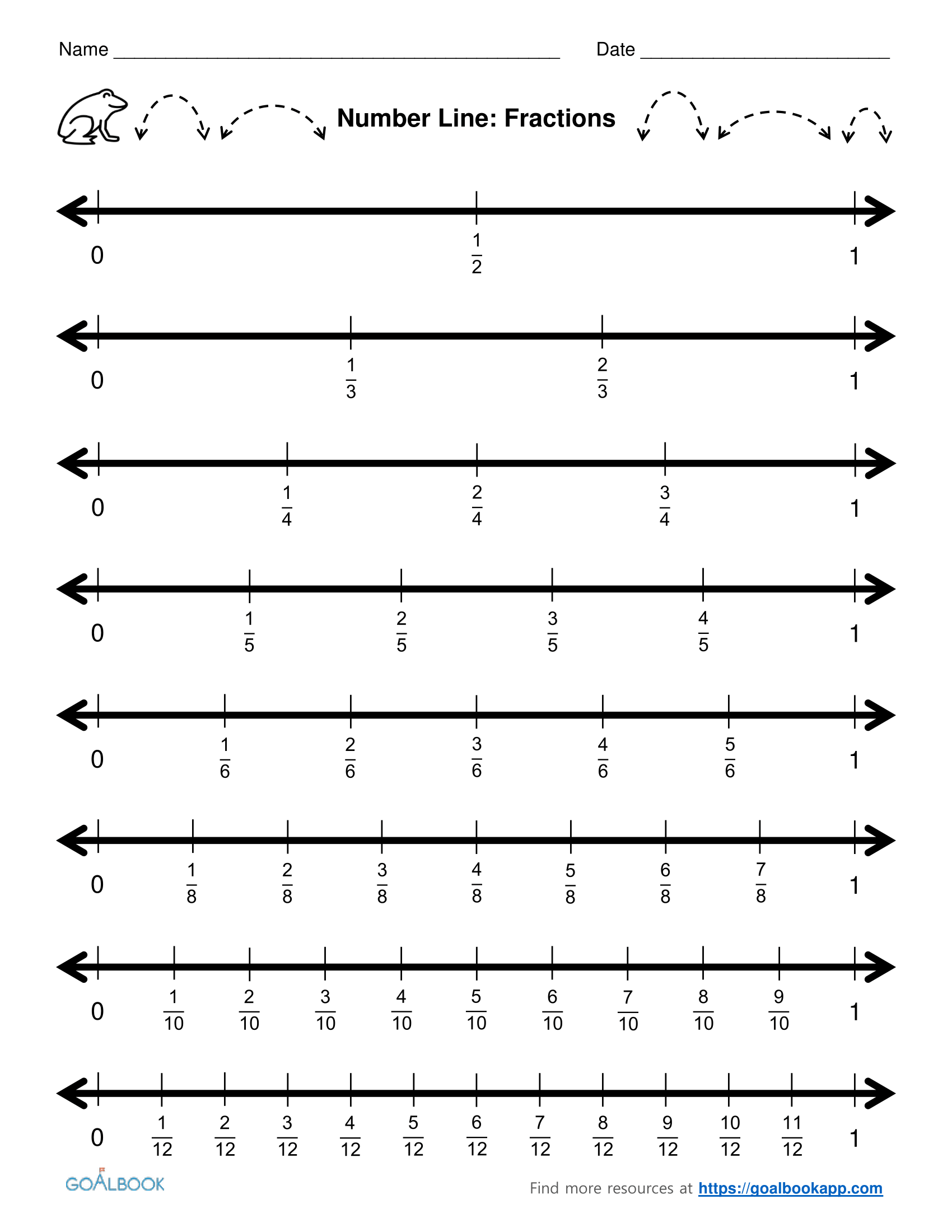 image about Printable Fraction Number Lines named worksheet. Portion Quantity Line Worksheets. Detest Mysql