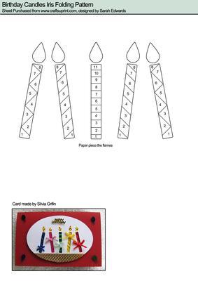 Birthday Candles Iris Folding Pattern Cup77969 172