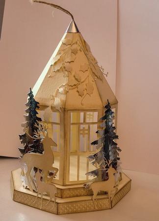 Lantern On Plinths Design No 1 For Christmas Weddings Svg