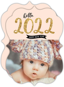Cheap Vintage New Years Cards   Invite Shop Hello New Year Baby Photo Card