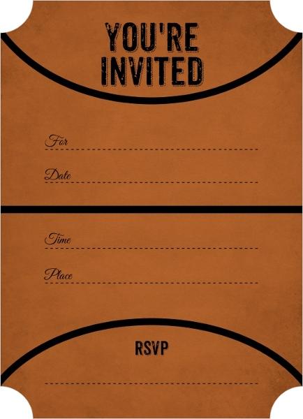 Fill Graduation Party Invitations