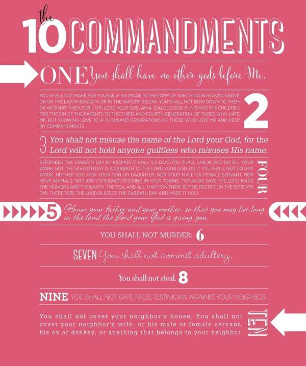10 commandments of god # 34