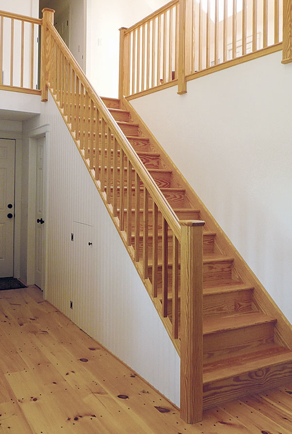 A Distinctive Stair Rail Fine Homebuilding   Attaching Handrail To Newel Post   Bolt   Fine Homebuilding   Stair Treads   Wood   Baluster