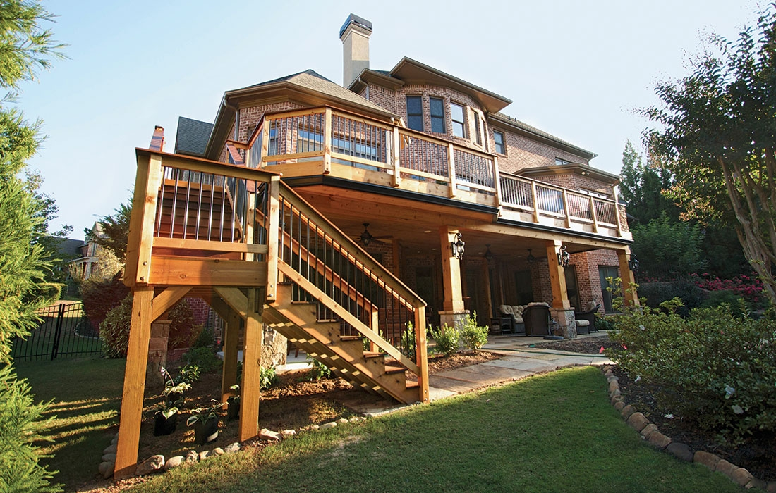 Second Floor Deck Ideas Fine Homebuilding | Exterior Stairs To Second Floor | Commercial Exterior | Design | Two Story | Covered | Patio