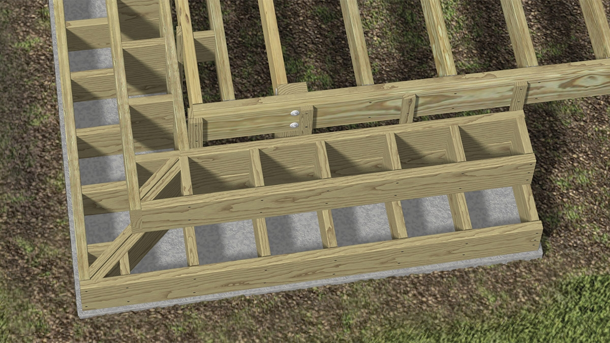 Building Box Style Stairs Fine Homebuilding | 3 Step Outdoor Stairs | Diy | Portable | Entrance | Wide | Curved Front Porch