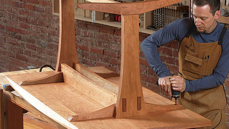 A Trestle Table With Modern Appeal Finewoodworking