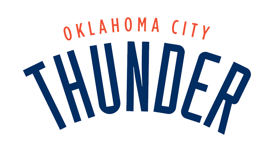 Oklahoma City Thunder 3d Logo On Basketball