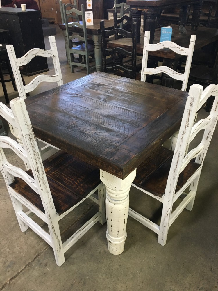 Rustic Canyon White 5pc Dinette Mes 10 Sil 03 White