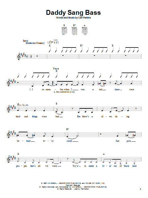 Johnny Cash Big River Chords