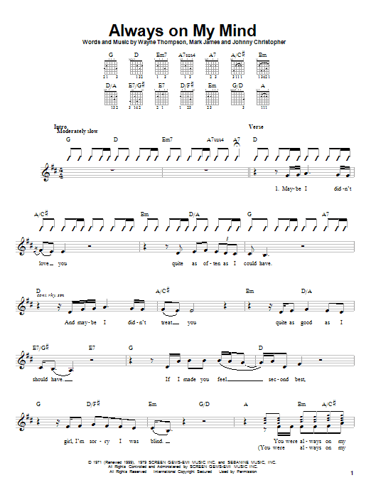 Crying In The Rain Chords
