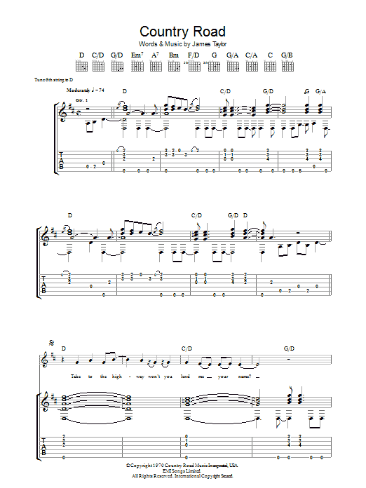 Take Me Home Country Roads Chords