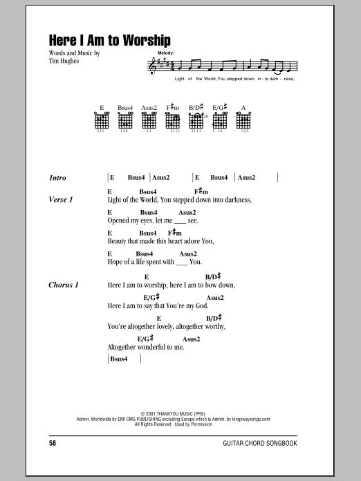 Guitar Chord Sheets Christian