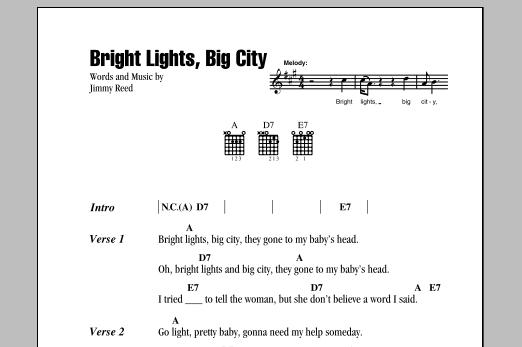 Bright Lights Big City Song