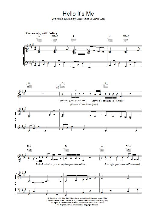 John Cale Hallelujah Chords