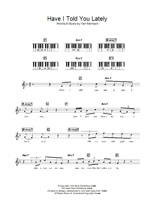 Brown Eyed Girl Chords Piano Page 2