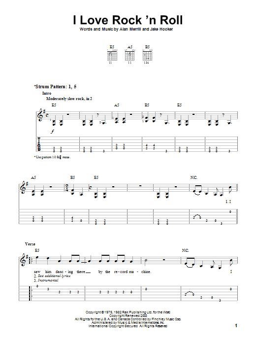 Easy Rock Guitar Chords