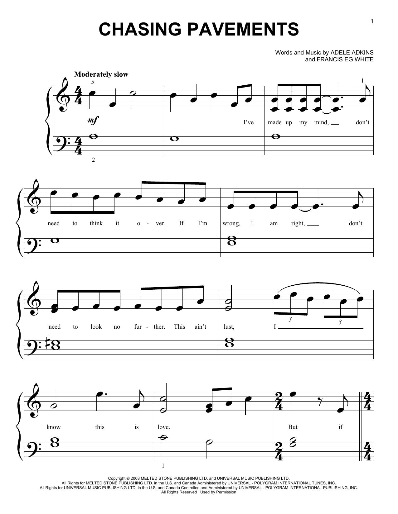 Beautiful Chasing Pavements Chords Piano Model - Beginner Guitar ...