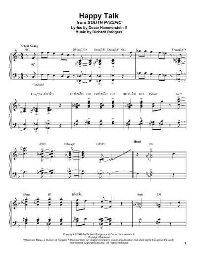 Happy Talk | Sheet Music Direct