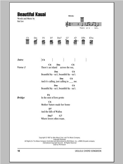 Chords Kui Lee Songs