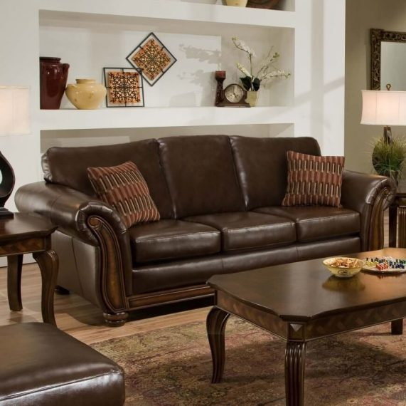 101 Beautiful Formal Living Room Design Ideas  2018 Images  A sleek brown leather sofa with accent pillows  When paired with dark  wooden tables