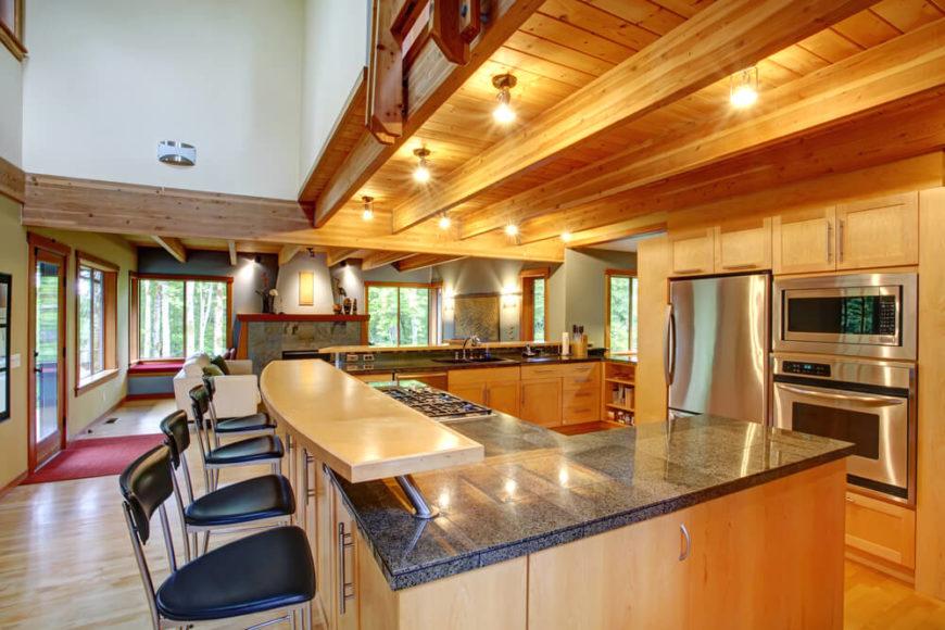 L Shaped Kitchen Large Island