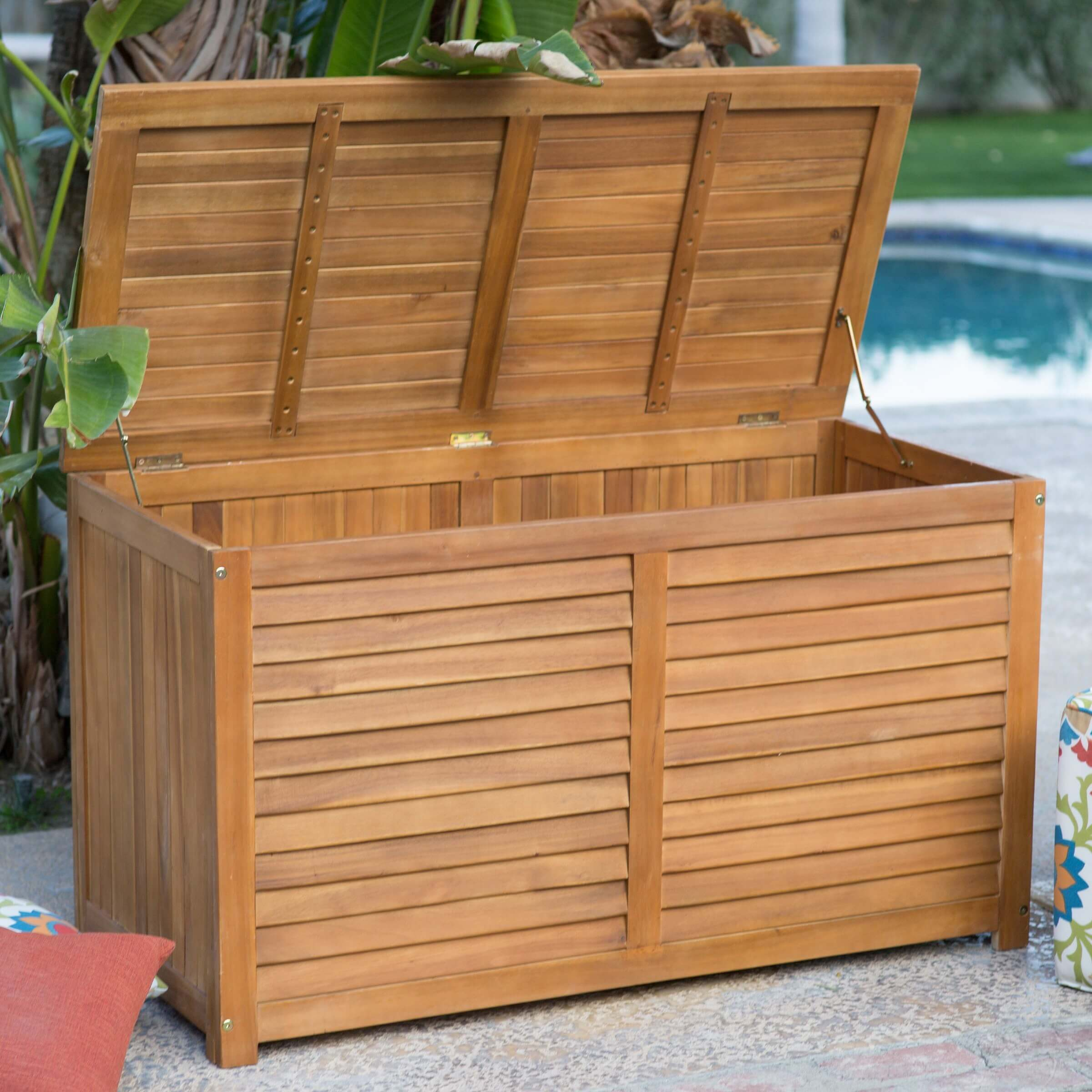 Wicker Outdoor Serving Station