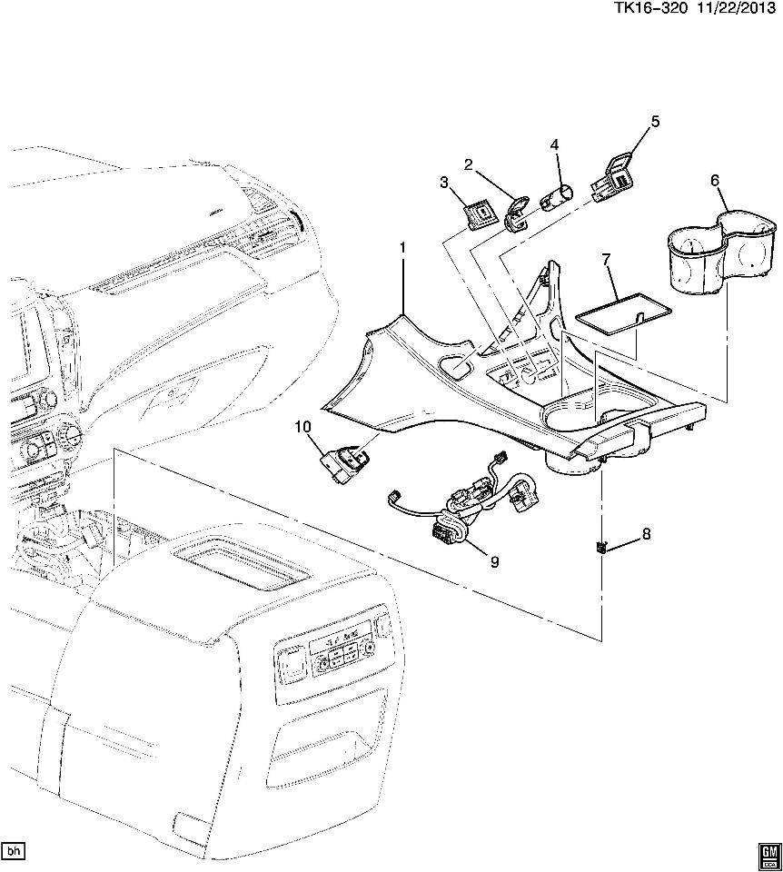 2015 chevrolet gmc yukon tahoe center console cup holder dune brown gmc truck parts diagram 2015