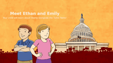 Meet Ethan and Emily. Your kids will learn about liberty alongside the Tuttle Twins!
