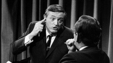 William F. Buckley (left) and Gore Vidal squareoff on Nov. 5, 1968
