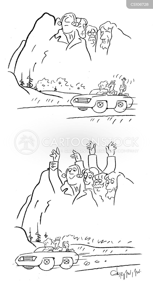 Mount Rushmore George Washington Cartoon